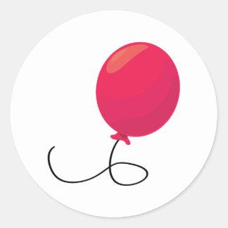 Rode Ballon Ronde Sticker