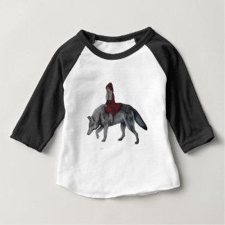 Rode Berijdende Kap Baby T Shirts