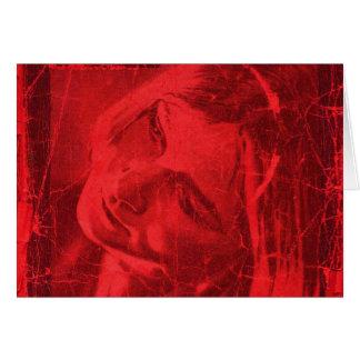 Rode Bezinningen Wenskaart