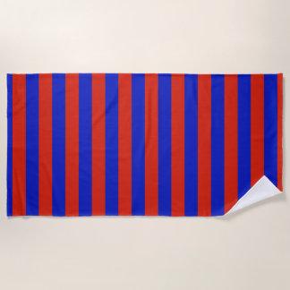 Rode blauwe de kleurenstrepen van de V.S. Strandlaken