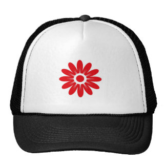 Rode bloem trucker cap