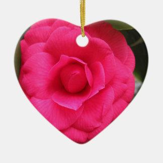 Rode bloem van japonica Rachele Odero van de Keramisch Hart Ornament