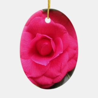 Rode bloem van japonica Rachele Odero van de Keramisch Ovaal Ornament