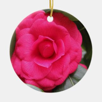 Rode bloem van japonica Rachele Odero van de Rond Keramisch Ornament