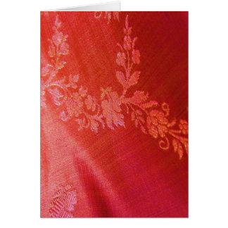 Rode Bloemen Klantgerichte Kaart EleganceIV -