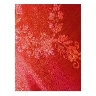 Rode BloemenElegantie I Klantgericht Briefkaart - Wenskaarten
