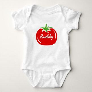 Rode bodysuit van de tomatendouane voor babyjongen