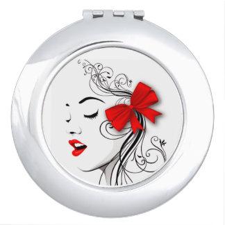 Rode boog makeup spiegeltjes