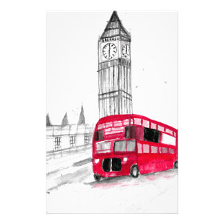 Rode bus Londen Briefpapier Papier