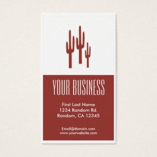 Rode cactus klantgerichte visitekaartjes
