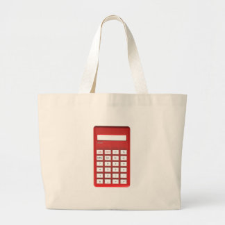 Rode calculatorcalculator grote draagtas