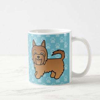 Rode Cartoon Australisch Terrier Koffiemok