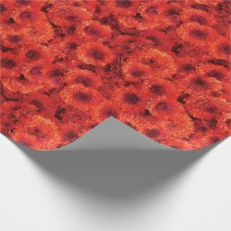 Rode Chrysanten Inpakpapier
