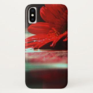 Rode Daisy Gerbera Flowers iPhone X Hoesje