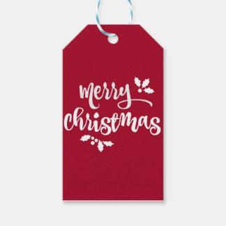 Rode de giftlabels van Kerstmis Cadeaulabel