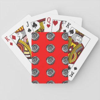 """Rode de rozenspeelkaarten """"van de stipwaanzin"""" pokerkaarten"""