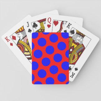 Rode en Blauwe Stippen Speelkaarten