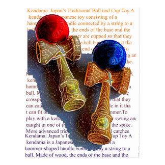 Rode en Blauwe van de Kleur van de Inkt Schets de Briefkaart