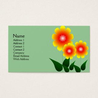 Rode en Gele Bloem Visitekaartjes