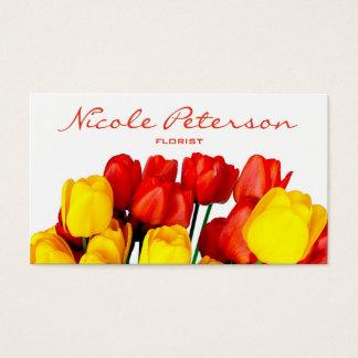 rode en gele tulpen - bloemist visitekaartjes