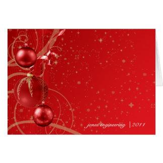 Rode en Gouden Van het Bedrijfs ornament van Notitiekaart