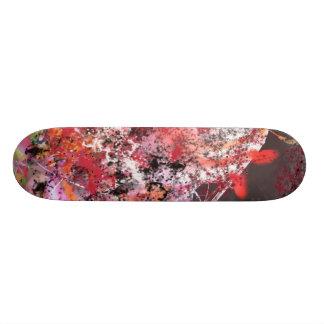 Rode en Grijze Abstracte No.4 Skateboard Decks