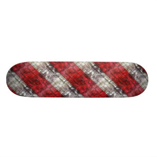 Rode en Grijze Geweven Strepen Skate Deck