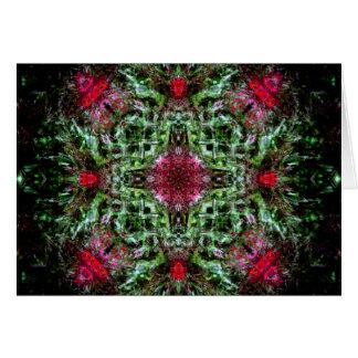 Rode en Groene Mandala Briefkaarten 0