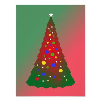 Rode en Groene Vrolijke Kerstboom Fotoprints