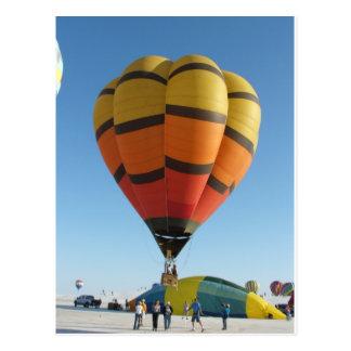 Rode en Oranje Hete luchtballon Wens Kaart
