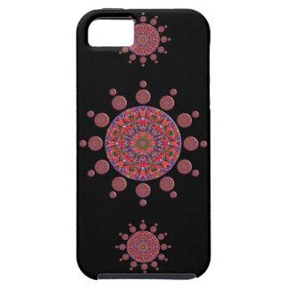 Rode en Paarse Fractal van Mandala van de Tulp Tough iPhone 5 Hoesje