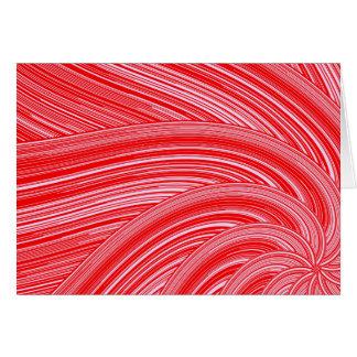 Rode en Roze Spiraalvormige Druk Briefkaarten 0