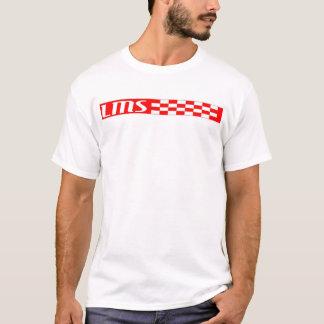rode en witte checkerd lms t shirt