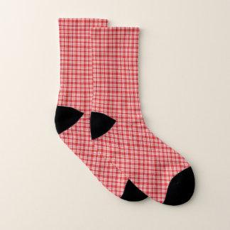 Rode en Witte Plaid Sokken