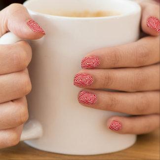 Rode en Witte Scribbleprint Minx Nail Art