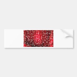 Rode en Witte Sterren Bumpersticker