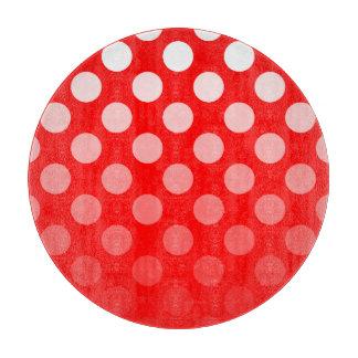 Rode en Witte Stippen Ombre Snijplank
