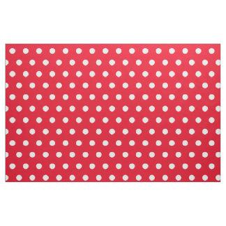 Rode en witte stof | van het stippatroon past aan