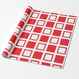 Rode en Witte Vierkanten Inpakpapier
