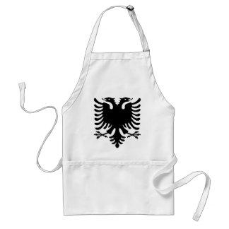 Rode en Zwarte Albanees Standaard Schort
