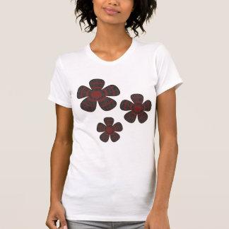 rode en zwarte bloemen t shirt