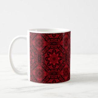 Rode en zwarte gotische middeleeuwse fantasie koffiemok