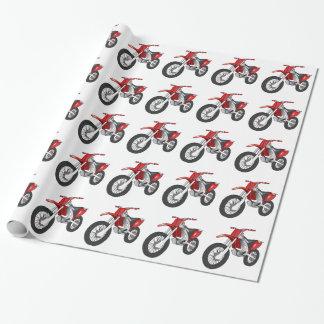 Rode en Zwarte Off-Road/Motorfiets Enduro Cadeaupapier
