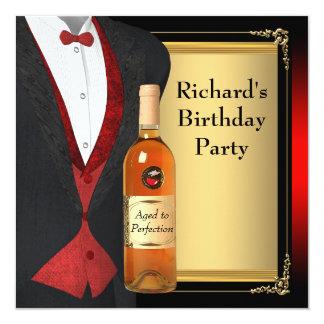 Rode en Zwarte Oud aan de Partij van de Verjaardag Kaart