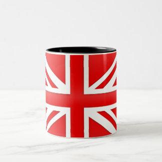 Rode Engelse Vlag Tweekleurige Koffiemok