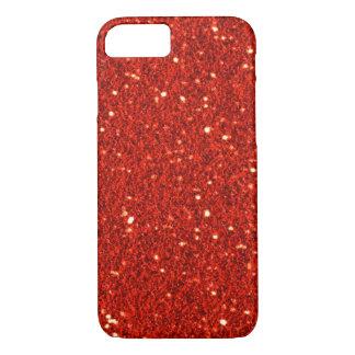 Rode Faux schittert iPhone 7 hoesje