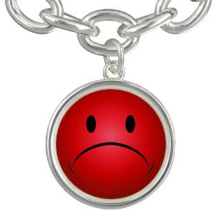 Rode Frownie Bedel Armbandjes