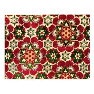 Rode Gebloeide Stof Medici Briefkaart