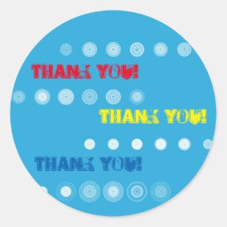 Rode Geel en het Blauw dankt u omcirkelt Sticker