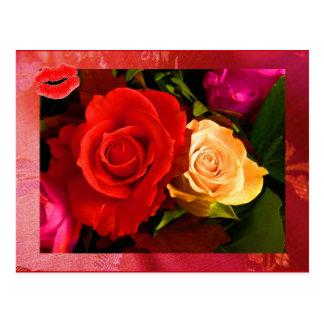 Rode Geel nam II Briefkaart toe Wens Kaart